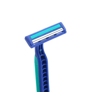 Green Rubber 2 Stainless Steel Diposable Shaving Razor (JG-T800) pictures & photos