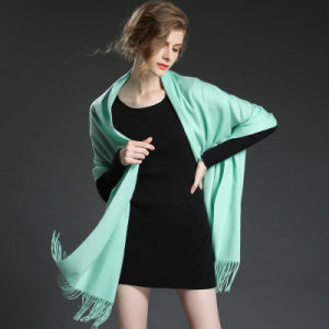 Fashion Accessories Light Green Pashmina Wrap Lady Scarf pictures & photos