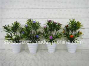 Artificial Plastic Potted Flower (XD15-381)