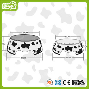 Milk Cow Melamine Bowl with Stainless Steel Pet Bowl pictures & photos