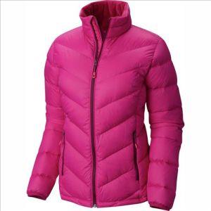 Hot Sale Wind Resistant Pink Ladies 30d Nylon Down Jacket pictures & photos