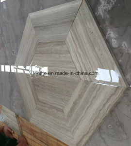 Polished Hexagon Shape White Wood Marble Tile for Flooring and Wall pictures & photos