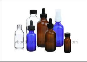 Amber Bottles with White Droppers, Glass Bottles pictures & photos