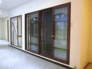 OEM Aluminum Two Tracks Extrusion Profiles Sliding Door pictures & photos