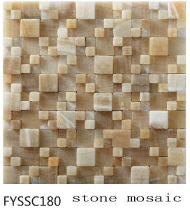 Polished Nature Stone Mosaic for The Television Background Wall (Fyssc180)