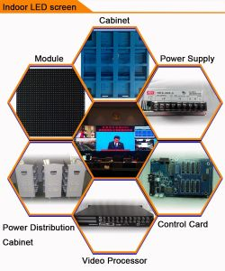 Indoor P4 Full Color LED Display Panel Screen Board Factory pictures & photos