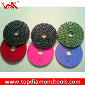 3 Step Wet Used Flexible Diamond Polishing Pads for Stone Polishing pictures & photos