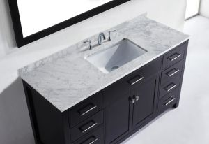 Solid Wooden Bathroom Vanity Cabinet pictures & photos
