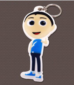 Promotional Logo Printed Rubber Keychains PVC Silicone Keyrings pictures & photos