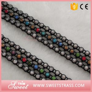 Colorful Fancy Decorative Crystal Plastic Trimming Ribbon for Shoe pictures & photos