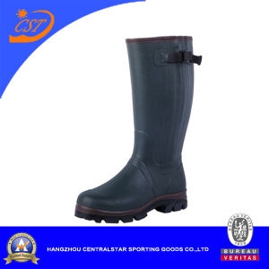 Fashion Side Zip Accessory Rubber Boots (2207NZ)