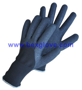 7 Gauge Acrylic Thermal Liner Plus 13G Nylon Outer Liner, Latex Coating, 3/4, Foam Finish Glove pictures & photos
