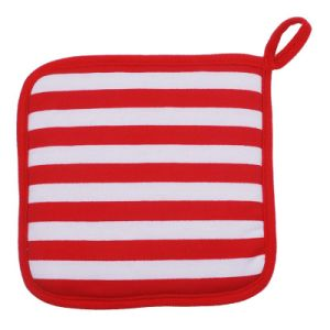 Hot Sell Red Strip Oven Mitt Made in China Kitchen Hot Protected Oven Mit pictures & photos