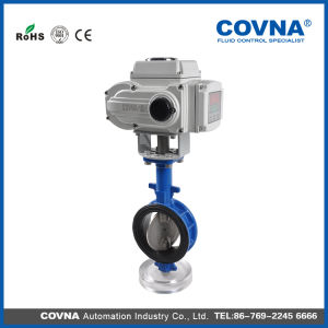 China Motor Operated Butterfly Valve With Wafer Connection China Valve Control Valve