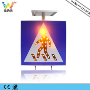 China Supplier Solar Pedestrian Traffic Flashing Light Sign pictures & photos