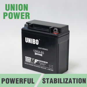 Maintenance Free 12n5a-BS 12V5ah High Quality Mf Motorcycle Battery pictures & photos