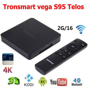 Original Tronsmart Vega S95 Telos Android TV Box Amlogic S905 Quad Core 2.0GHz 2g/16g 2.4G/5GHz Dual WiFi H. 265 4k2k Uhd 3D SATA pictures & photos