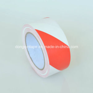White-Red PVC Warning Marking Tape for Electrical Protection (48mm*20Y)