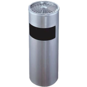 Stainless Steel Trash Can with Ashtray for Hotel Lobby Use pictures & photos