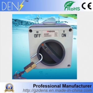 IP66 Waterproof 2p 32A Lockable AC Isolator Switch pictures & photos