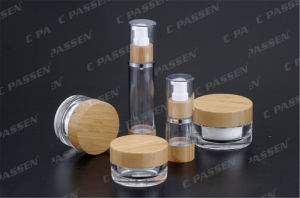 Bamboo Acrylic Cream Jar as Airless Lotion Bottle for Cosmetic Packaging (PPC-CPS-084) pictures & photos