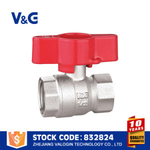 Brass Copper Butterfly Handle Valve (VG-A17202) pictures & photos