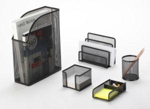 Desk Set Accessories/ Metal Mesh Stationery Office Set/ Office Desk Accessories pictures & photos