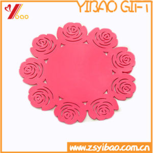 Custom Non-Slip Round Shape Silicone /Rubber / PVC 90mm Coaster of Gift (YB-HR-384) pictures & photos