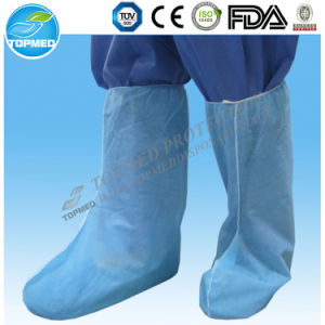 Disposable Non Slip Plastic Waterproof PVC Rain Boot Cover pictures & photos