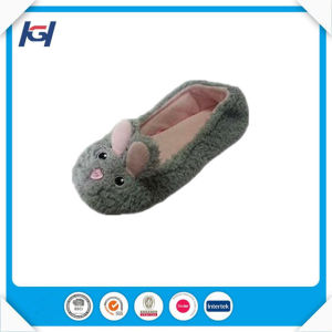 Cute Knitted Warm Soft Sole Mouse Ballet Slippers Wholesale pictures & photos
