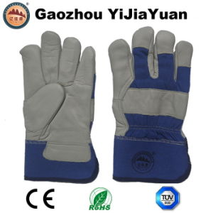 Cow Grain Leather Working Gloves with Boa Lining pictures & photos