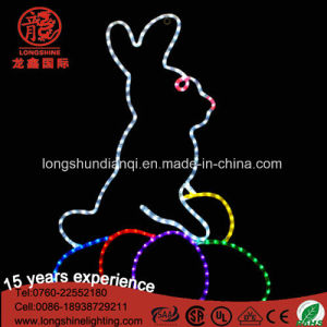 Hot Sale Waterproof Changeable IP65 LED Rabbit 2D Motif Rope Light for Easter Decoration pictures & photos