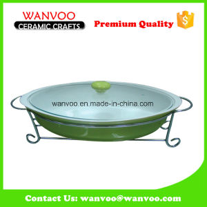 Different Color Hot Sale Non-Stick Ceramic Ovenware with Glass Lid pictures & photos