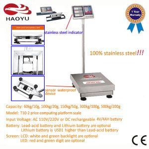 Two-Side Display Indicator Full Stainless Steel Frame Half Protection Platform Scale pictures & photos