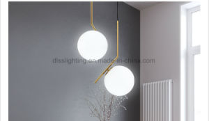 Round Ball Metal and Glass Floor Lamp Simple Decoration Bulb Light pictures & photos