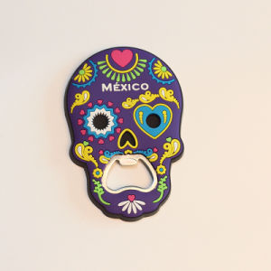 Hot Sales Special Design Skull Shaped 3D Soft Fridge Magnet pictures & photos
