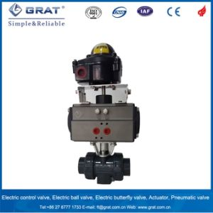 Dn50 PVC Pneumatic Ball Valve with Limit Switch pictures & photos