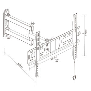 Full-Motion TV Wall Mount Fit for 21-55′′ pictures & photos