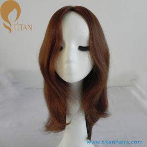 16inch 6# Virgin Human Hair Front Lace Wig for Women