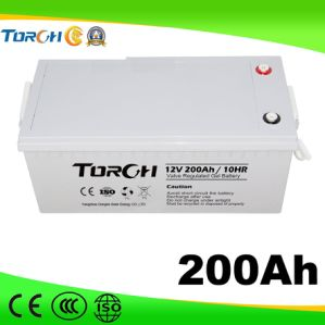 12V 200ah VRLA Deep-Cycle Solar Gel Battery for Power Station pictures & photos