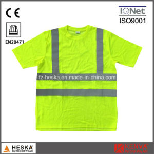 Safety High Visibility En20471 Reflective Tape T-Shirt pictures & photos