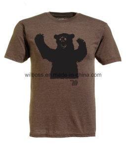 Quality Cotton Printed Man T Shirt of Round Neck pictures & photos
