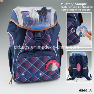 Miss Melody Backpack Blue Checked pictures & photos