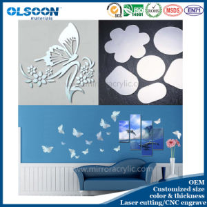 Wall Decoration Material Acrylic Mirror Wall Decoration pictures & photos