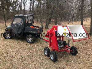 Quad/UTV/Side X Side Towable 6.5HP Engine Powered Branch Logger/Wood Chipper/Wood Chopper with Capacity 60-130mm Length, 60-80cm Dia Cutting pictures & photos