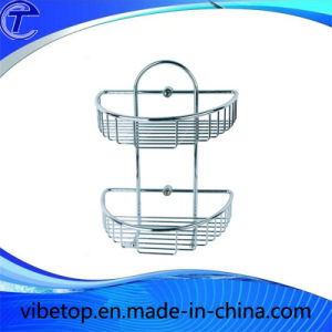 Newest Two-Layer Wall Mounting Stainless Steel Storage Basket pictures & photos
