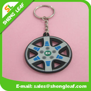 Five Colors Rubber Key Chain pictures & photos