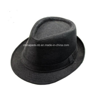 Dofferent Color Trilby Fedora Hast with Ribbon (CPA_602302) pictures & photos