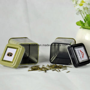 Small Square Tea Packaging Tin Box with Food Grade Varnish China Supplier pictures & photos