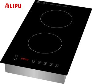 2 Drop in 1800W Domino Vertical induction cooker for USA market pictures & photos